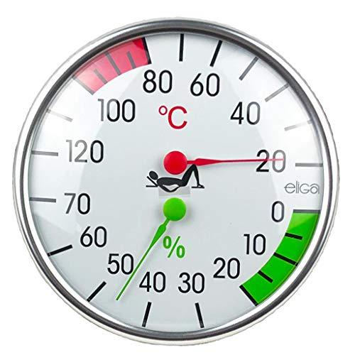 SudoreWell® Sauna Klimamesser mit Thermometer + Hygrometer Ø128mm