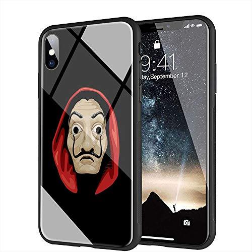 iPhone 7 Plus Funda, iPhone 8 Plus Funda, Cubierta Trasera de Vidrio Templado, Silicona Suave, Compatible con iPhone 7 Plus/8 Plus AMB-44 La Casa...