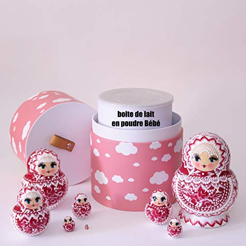 Super Idée Cadeau de Naissance Personnalisé Bébé Fille ou Garçon - Boite de Décoration Bébé Nuage - Cache Pot de Lait des Bébés - Mysweetypot - BOITE DE DECORATION NUAGE - CACHE POT DE LAIT (jaune)