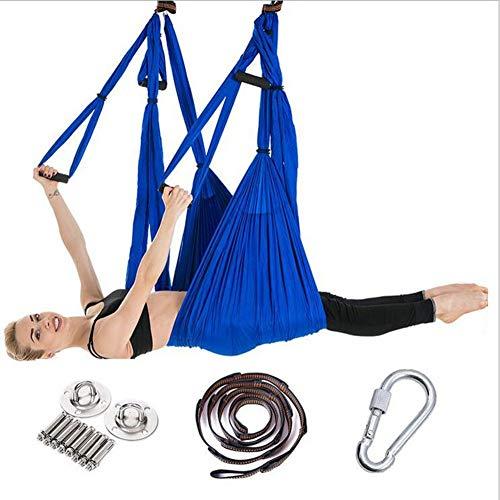 FLY FLU Hamaca De Yoga Aerea, Hamaca De Yoga Arnés De Yoga Hamaca Cuerda De Tracción De Yoga Aérea No Elástica,Royalblue