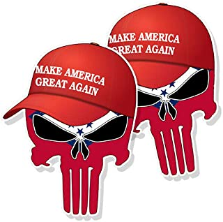 Trump Punisher Skull Sticker and Patch by Kramer sticker's shop