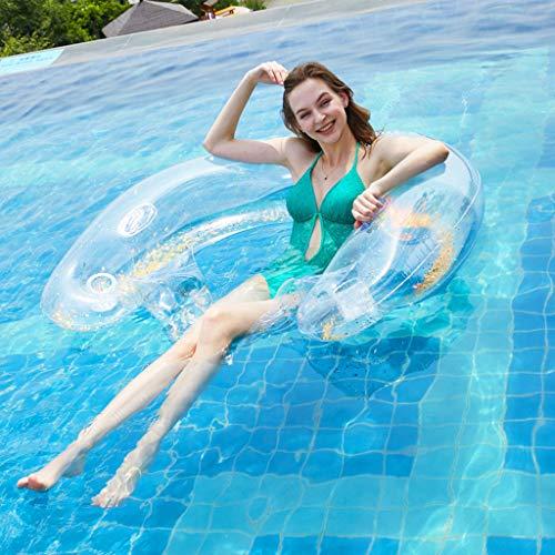 YMXYMM Wasser Hängematte Pool Liege,Luftmatratze Schwimmring Sitzende Reihe Aufblasbare Schwimmende Reihe Erwachsene Pool Party Schwimmen Schwimmbett, 141 * 100 * 30cm