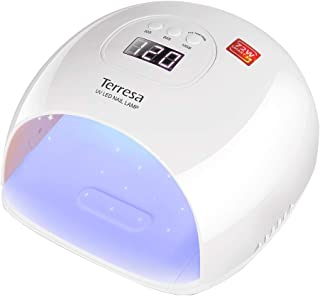UV LED Nail Lamp, Terresa 72 Watt Faster Nail Dryer for Gel Polish, Nail Light with 3 Timer Setting, Salon Quality Professional Gel Lamp, Automatic Sensor Nail Art Tools for Fingernail and Toenail
