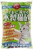 常陸化工 トイレに流せる木製猫砂 12L