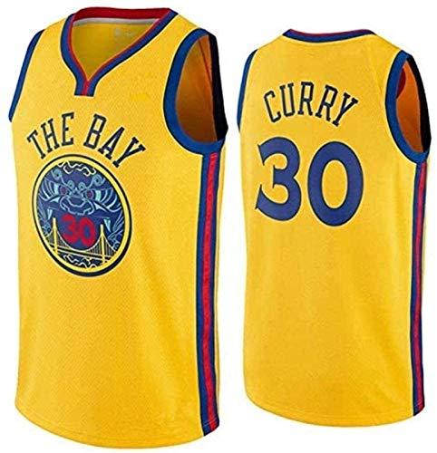 CCET NBA Trikots NBA Golden State Warriors No.30 Stephen Curry Männer Trikots Mesh-Basketball Jersey Swingman Auflage Unisex Ärmel T-Shirt (Color : C, Size : XL)