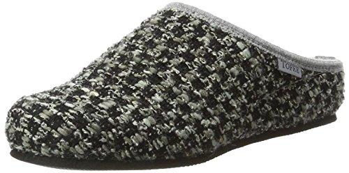 TOFEE Damen 74-Vang Pantoffeln, Grau (Schwarz/Grau), 40 EU
