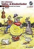 Die schönsten Volks- & Kinderlieder, Notenausg. m. Play-Along-CDs, Für Violine, m. Audio-CD: Wahlweise mit 2. Stimme. 31 Lieder für Geigenschüler. Auf ... eingespielt: sowohl mit als...