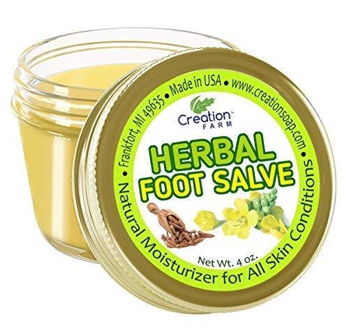 Creation Farm Herbal Foot Salve - Anti-Fungal Balm for Feet, Moisturizer,...