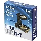 Carson Metal LinenTest - Lente contafili in metallo con custodia, 5 x 30 mm