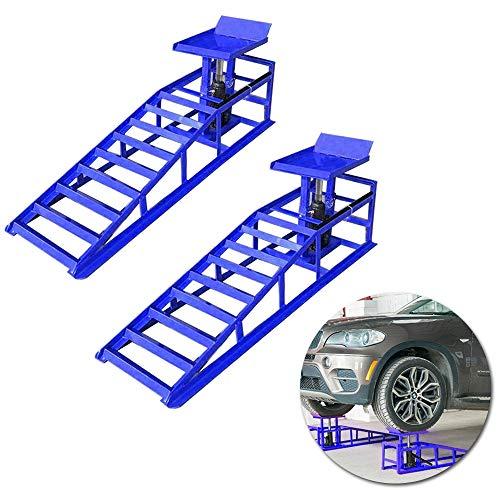 Froadp Rampa automatica a 2 parti, portata 2 t, Set di 2 Rampe di carico per Auto