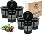 iPartsPlusMore Reusable K Cups For Keurig 2.0 & 1.0 Brewers For Easy To Use Refillable Single Cup Coffee Filters - Eco Friendly Stainless Steel Mesh Filter (6 Pack)