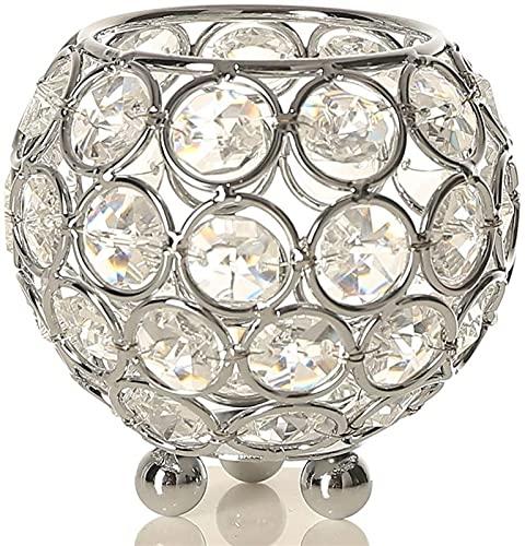 Candeleros Titular de la vela for la mesa de la vela tazón de los soportes de cristal de metal candelabros de soporte mesa de piezas de la mesa de la boda de la decoración de la fiesta de la casa