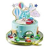 Cumpleaños niño 1-5 años juego decoración pasteles decoración para tartas decoración cumpleaños pastel cumpleaños coche avión para fiesta niños decoraciones para fiestas cumpleaños regalo cumpleaños