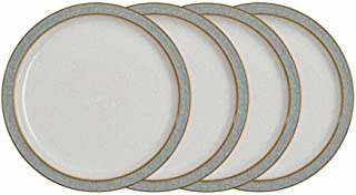 Denby Elements 4 Piece Medium Plate Set, Grey