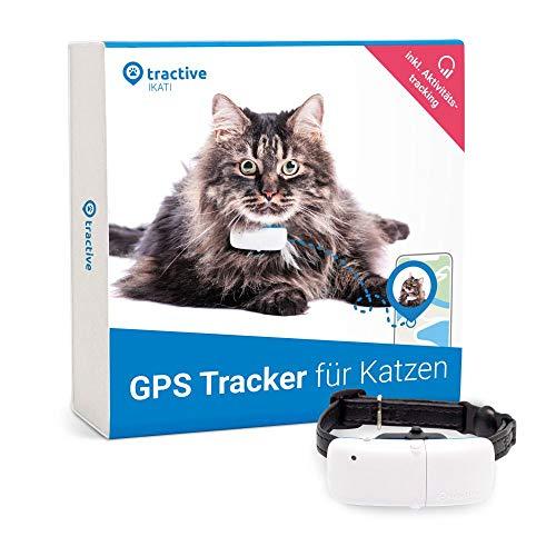 Neuestes Modell Tractive GPS-Halsband für Katzen mit Aktivitätstracking - Leichter und wasserdichter Peilsender mit Echtzeit GPS-Ortung
