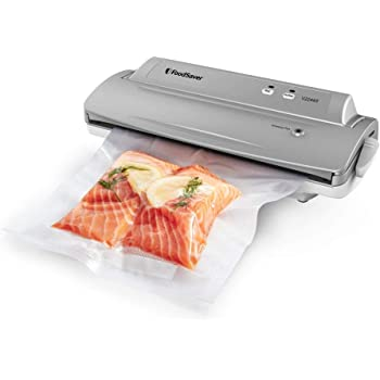 FoodSaver V2244 Vacuum Sealer Machine for Food Preservation with Bags and Rolls Starter Kit | Number 1 Vacuum Sealer System | Compact and Easy Clean | UL Safety Certified | Silver