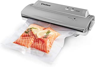 FoodSaver V2244 Vacuum Sealer Machine for Food Preservation with Bags and Rolls Starter Kit   #1 Vacuum Sealer System   Compact & Easy Clean   UL Safety Certified   Silver