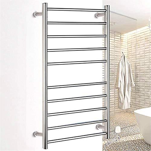 TUHFG Toallero Eléctrico Bajo Consumo Calentador de Toalla eléctrica para baño, Termostático WallSounted Secking Rack Thermostatic con 10 Barras calefactoras 37.4 × 19.7 × 4.9 Pulgadas, plugin