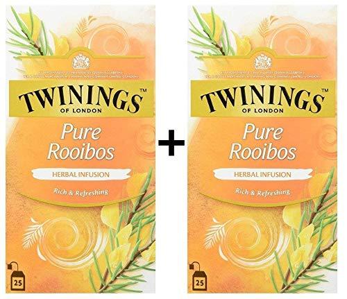 Twinings Kräutertee Pure Rooibos 25 Teebeutel (25x2g) 2x50g