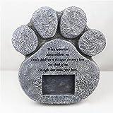 Targhe commemorative per animali domestici, I Am Right Here Inside Your Heart Lapide commemorativa a forma di zampa per cani di gatto (19,5 x 21 cm)