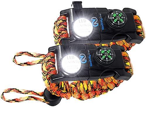Survival Paracord Bracelet - Tactical Emergency Gear Kit...