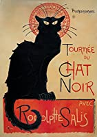 Theophile Alexandre Steinlen ジクレープリント キャンバス 印刷 複製画 絵画 ポスター(Tour of the black cat)