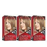 Revlon Colorsilk Beautiful Color Permanent Hair Color with 3D Gel Technology & Keratin, 100% Gray Coverage Hair Dye, 60 Dark Ash Blonde, 4.4 oz (Pack of 3)
