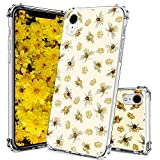 YESPURE iPhone XR Case Clear,Bee Design Printed Shockproof Scratch Resistant Protective Crystal Clear TPU Phone Cover Case for Apple iPhone XR - Bee Crown