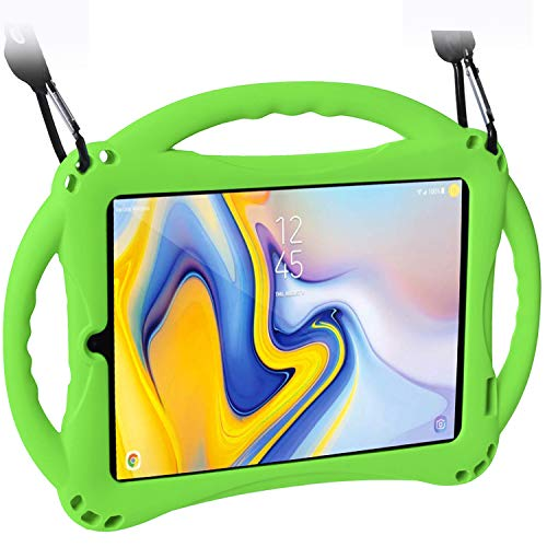 TopEsct Case for Samsung Galaxy Tab A 8.0(2018) SM-T387, Silicone Kids Shock Proof Convertible Handle Protective Cover Compatible with Samsung Galaxy Tab A 8.0 Inch 2018 Release Tablet (Green)