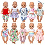HOAYO 16-18 Inch Baby Doll Clothes, 21 Pcs Doll Accessories for 43cm New Born Baby Dolls, 15 Inch Bitty Baby Dolls, American 18 Inch Girl Dolls
