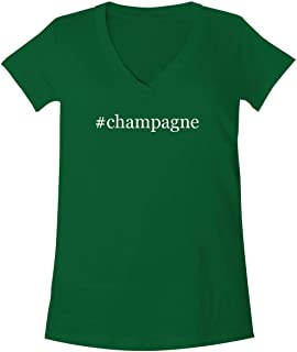 The Town Butler #Champagne - A Soft & Comfortable Women's V-Neck T-Shirt