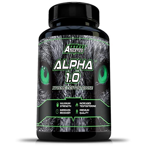 Testosterone Booster Alpha 1.0 - Premium Grade Testosterone Supplement - Test Booster Made in The UK - High Quality Testosterone Boosters Guaranteed - Includes Free Workout Program