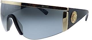Versace - 0VE2197 Gafas, Gris-Negro, 40 para Hombre