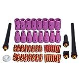 TIG Collets Bodies Alumina Cup Assorted Size Fit PTA DB SR WP 9 20 25 TIG Welding Torch Consumables 53pcs
