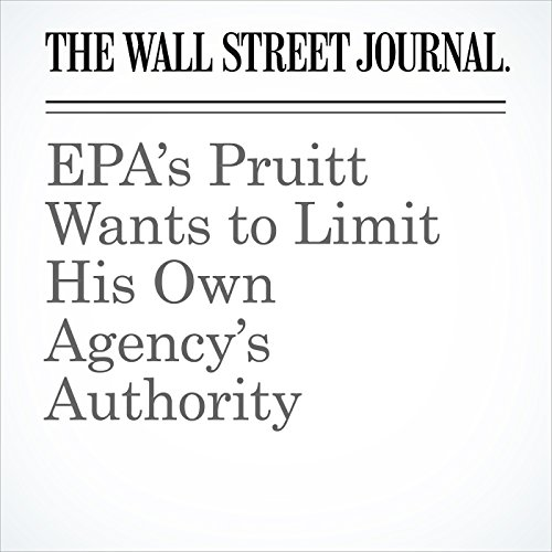 EPA's Pruitt Wants to Limit His Own Agency's Authority copertina