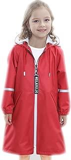 LHY- Raincoat M/L/XL/2XL/3XL Children's raincoat Primary School Children with a Bag Waterproof Poncho Coat Convenient (Color : Red, Size : M)