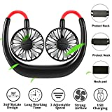 Hand Free Neck Fan - FecPecu Personal Fans 2020 New 2000mah Rechargeable USB Fans 360 Degrees Free Rotation &...