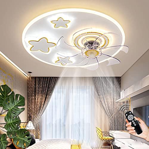 Ventilador De Techo Moderno Con Iluminación LED 60W Regulable Lámpara De Techo Control Remoto Lámparas De Ventilador Velocidad De Viento Ajustable Para Sala De Estar Dormitorio Habitación Infantil (B)