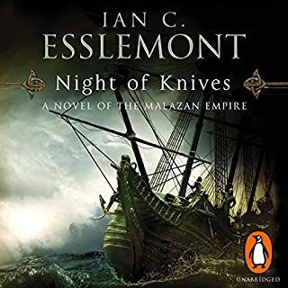 Night of Knives     A Novel of the Malazan Empire, Book 1              Autor:                                                                                                                                 Ian C Esslemont                               Sprecher:                                                                                                                                 John Banks                      Spieldauer: 9 Std. und 57 Min.     10 Bewertungen     Gesamt 4,8