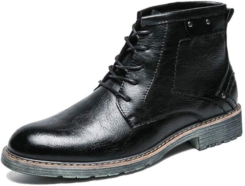 AEYMF Kurze Schwarze Stiefel Im Britischen Stil Für Herren