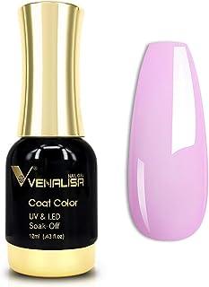 VENALISA Gel Nail Polish, 12ml Baby Purple Violet Color Soak Off UV LED Nail Gel Polish Nail Art Starter Manicure Salon DI...