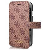 Guess GUFLBKP74GB 4G Uptown Booktype - Carcasa para iPhone 7, color marrón