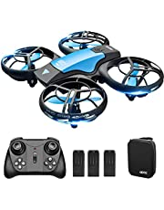 4DRC V8 Hand Operated Mini Drone for Kids Children RC Quadcopter with 3 Batteries Longer Flight Time, Altitude Hold, Headless Mode, Throwing GO, 3D Flip and 3 Speed Modes Aeroplane for Beginners