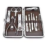 Tagliaunghie Set,Liwein 12 Pezzi Professionale Manicure Pedicure Set in Acciaio Inox di Vi...