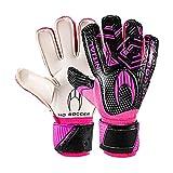 HO Soccer Initial Flat Pink Guantes de Portero, Unisex niños, Rosa/Negro, 3,5