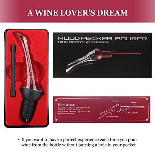 Corkasポアラーワインエアレーターデキャンティング快速エアレーションワイン愛好家向けプレミアムワインポアラーギフトに最適
