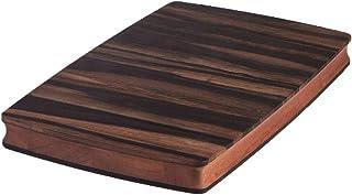 Stella Falone Reversible Cutting Board Made of Solid West African Crelicam Ebony Wood – 18'' x 11.4'' X 1.6'', Heavy-Duty,...