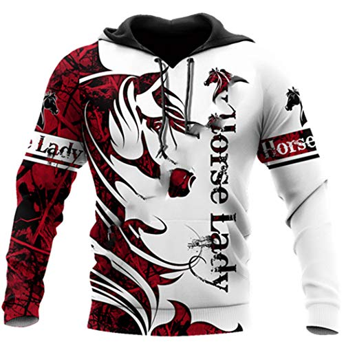 Animal Horse Tattoo Streetwear 3D Print Chándal Moda Otoño Casual Manga Larga Pullover Sudaderas con...