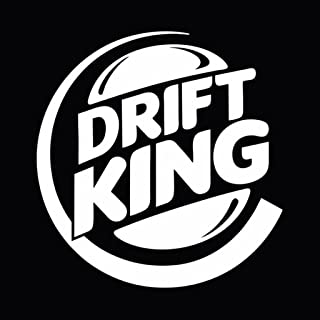 Drift King Decal | Cars Trucks Walls Laptop Toolbox Computer | White Decal | 5.5 In Decal | KCD256