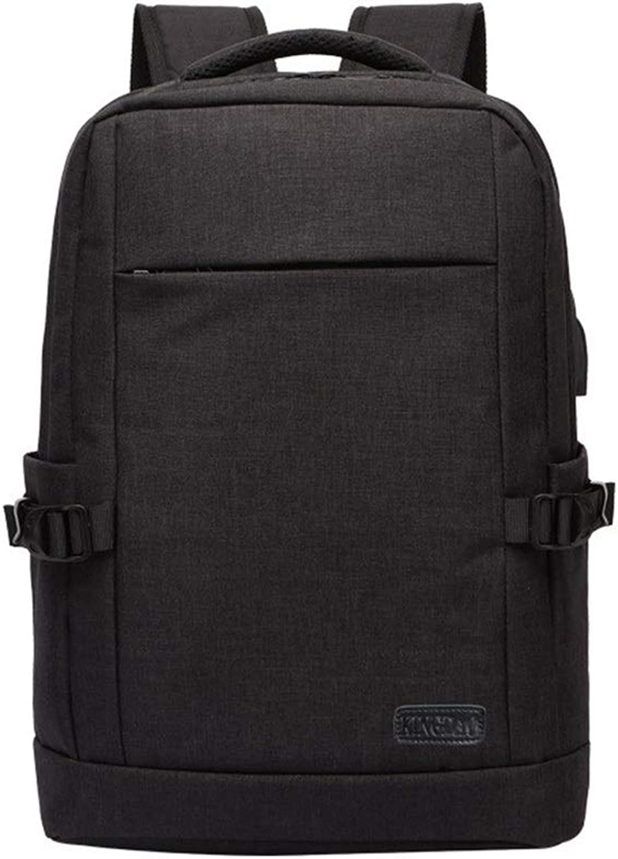 LPC Herren Rucksack USB Externe Lade Laptop Tasche Mode (Farbe   schwarz)